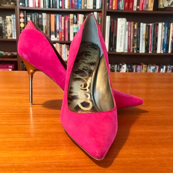 87fd770c071d Sam Edelman Shoes | Danielle Heeled Pink Point Court | Poshmark